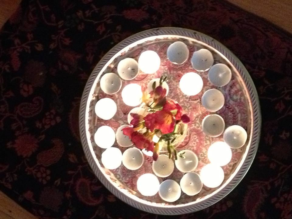 Puja candle photo